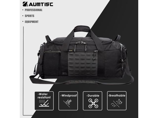 Aumtisc Travel Luggage Duffle Bag Lightweight Sports Gym With Shoes Compartment For Men And Women