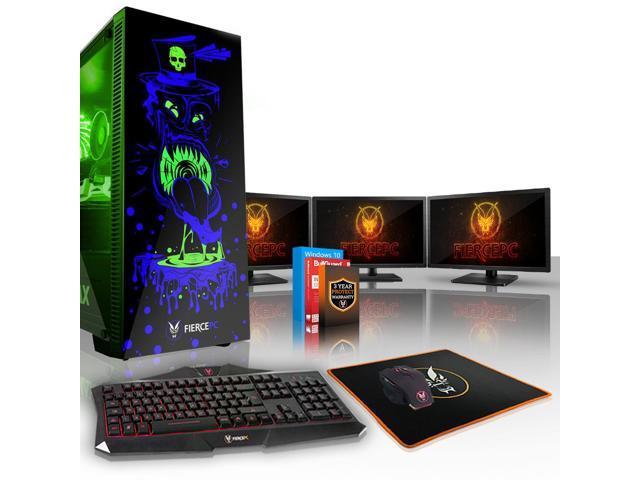 Fierce GOBBLER Gaming PC, Fast Intel Core i5 9400F 4 1GHz, 120GB SSD, 1TB  HDD, 8GB RAM, RTX 2080 8GB, Windows 10 Installed, Keyboard and Mouse, 3x