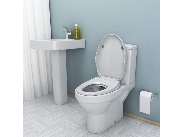 Brilliant Bidet Seat Dual Self Cleaning Nozzles Sleek Style Elongated Non Electric Bidet Toilet Seat Bathroom Newegg Com Alphanode Cool Chair Designs And Ideas Alphanodeonline
