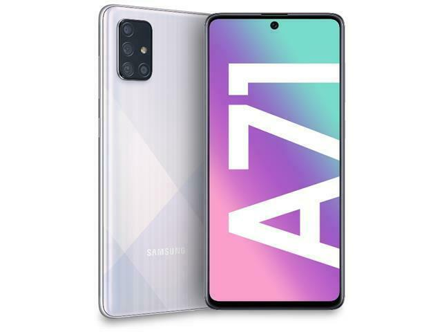 "Samsung Galaxy A71 (A715F) 6.7"" Super AMOLED Plus Screen, 128GB Memory + 6GB RAM, in-Screen Fingerprint, US + Global 4G LTE, GSM Unlocked, International Model - (Prism Crush Silver)"
