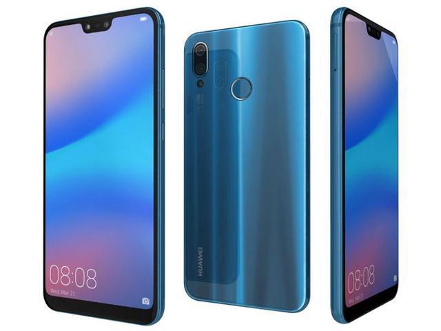 "Huawei P20 Lite 64GB Klein Blue, Dual Sim, 5 84"" inch, 4GB Ram,, GSM  Unlocked International Version No Verizon Or Sprint Only GSM Carriers -"