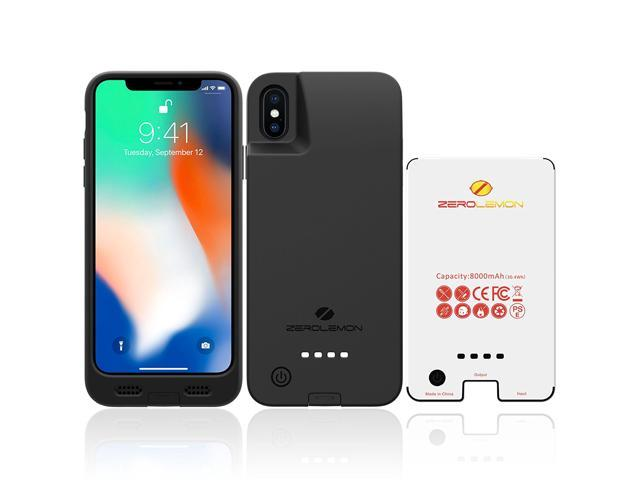best cheap 812d4 29fb5 iPhone X Battery Case, ZeroLemon iPhone X 8000mAh Rugged Juicer Extended  Battery Case Rechargeable Charging Case for iPhone X [Apple Certified ...
