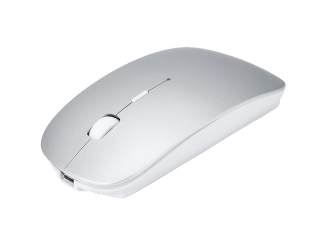 4eb097286bc Rechargeable Wireless Mouse, 2.4G Slim Mute Silent Click Noiseless Optical  Mouse with USB Receiver