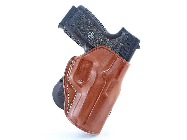 Masc Leather Paddle Holster Fits Kahr MK9/PM9, Right Hand, Brown Color  #1030# - Newegg com