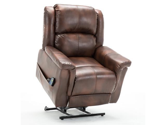 GTRACING ComHoma Power Lift Recliner Chair Massage Heated Electric Lounge  Living Room Sofa Luxurious Bonded Leather