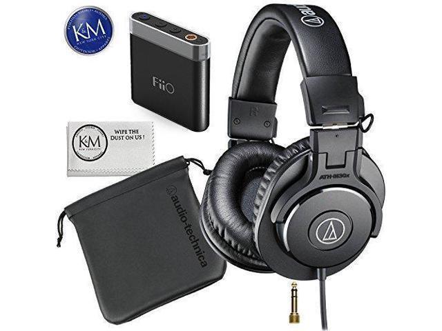 de3dbb4d28d Audio-Technica ATH-M30x Professional Monitor Headphone Bundle with FiiO A1  Portable Headphone Amplifier