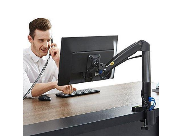 North Bayou Monitor Desk Mount Stand Fully Adjustable Computer Monitor Arm  for 22'' -35'' Monitor with Gas Spring (black-single arm) - Newegg com