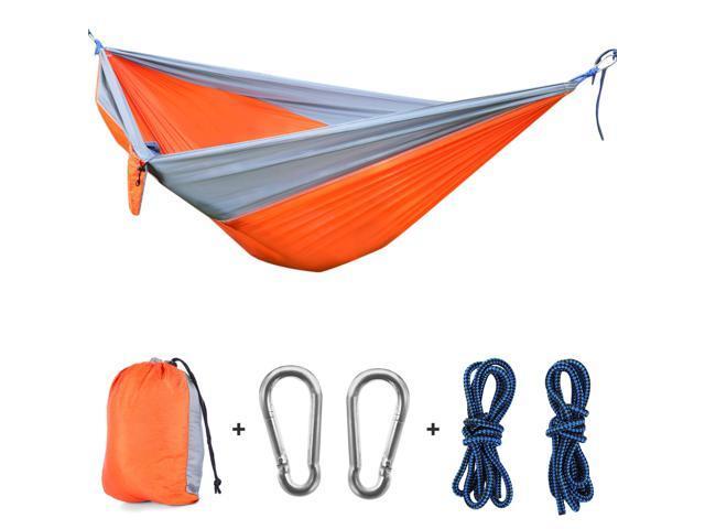 Camping Hammock Portable 2 Person Tree Swing Foldable 660lbs