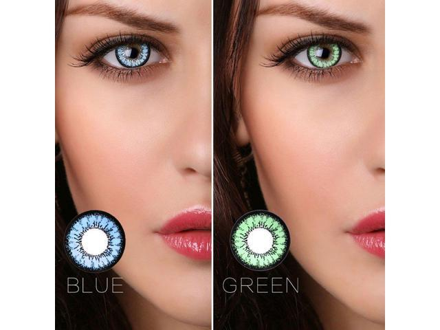 1 Pair Fashion Colored Cosmetic Contact Lenses Circle Big Eyes