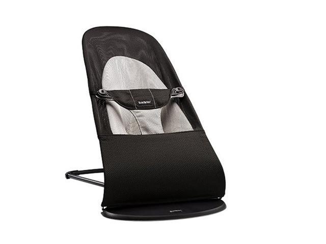 f12c7126c88 mesh black folding Baby Bouncer Baby Balance Chair Infant Rocking Chair  Rocker