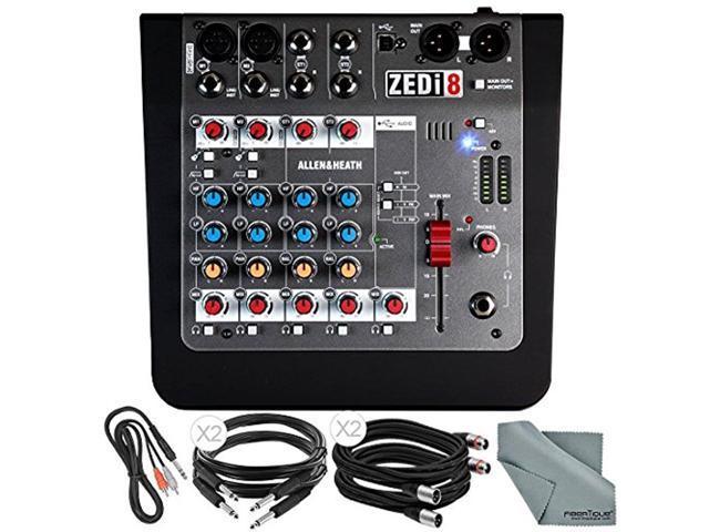 allen heath zedi8 compact 8 channel hybrid mixer usb interface basic bundle 5x cables. Black Bedroom Furniture Sets. Home Design Ideas