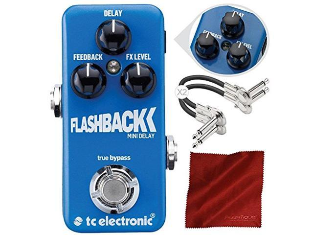 tc electronic flashback mini delay mini guitar effects pedal with toneprint and accessory bundle. Black Bedroom Furniture Sets. Home Design Ideas