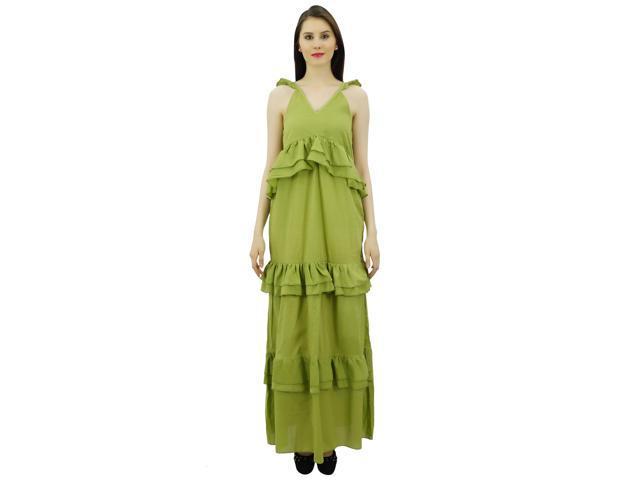 a8b81f80007 Bimba Sexy Summer Spaghetti Strap Sundress V-Neck Casual Ruffle Long Maxi  Beach Dress -