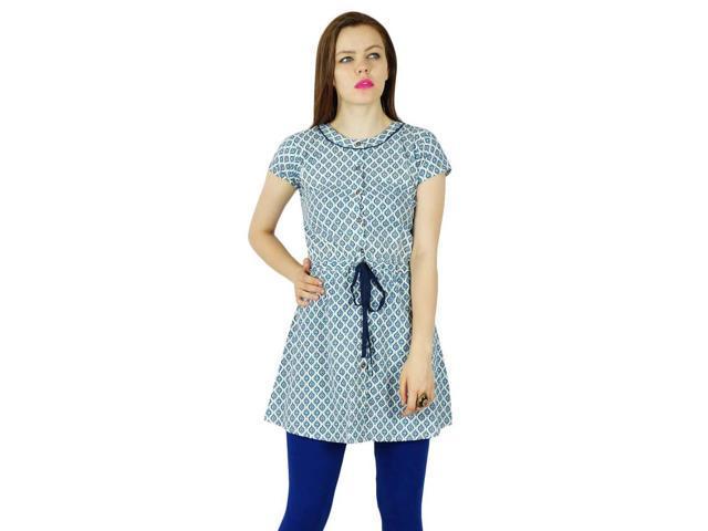 4484a03fadd27a Bimba Women Short Tunic Cotton Kurta Casual Summer Wear - 6 - Newegg.com
