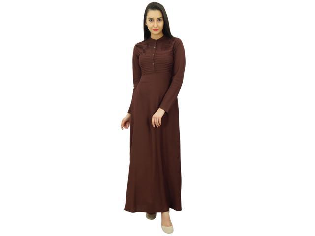 11cc178c187 Bimba Women s Muslim Abaya Pleated Jilbab Islamic Long Dress With Printed  Hijab