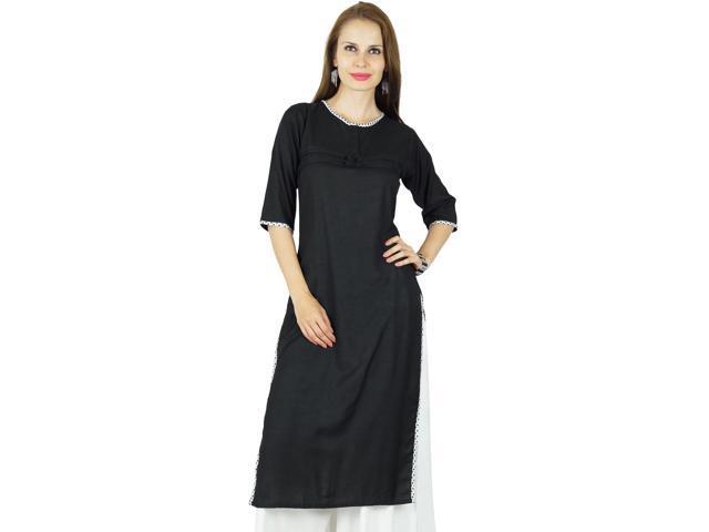 b509389bd2a9 Bimba Women Summer Rayon Kurta 3 4 Sleeve Formal Casual Tunic- 6