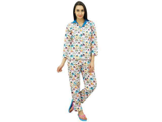 Bimba Button Down Shirt With Pajama Pants Night Wear Set Lounge Wear Sleep  Shirt f3f21bab6