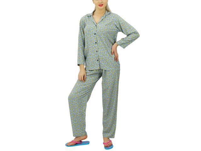 Bimba Button Down Shirt With Pajama Pants Night Wear Set Lounge Wear Sleep  Shirt with Pyjamas 87c999170