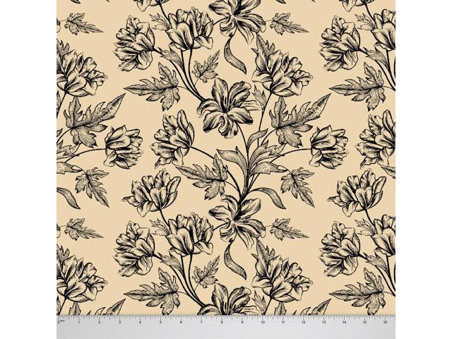 Soimoi 55 GSM Viscose Chiffon Floral Printed Fabric 42 Inches Wide By The Mtr
