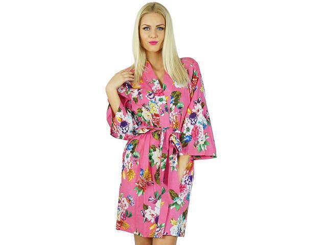 1662886e50 Bimba Women Short Cotton Robe Bridesmaid Getting Ready Wrap Cover Up ...