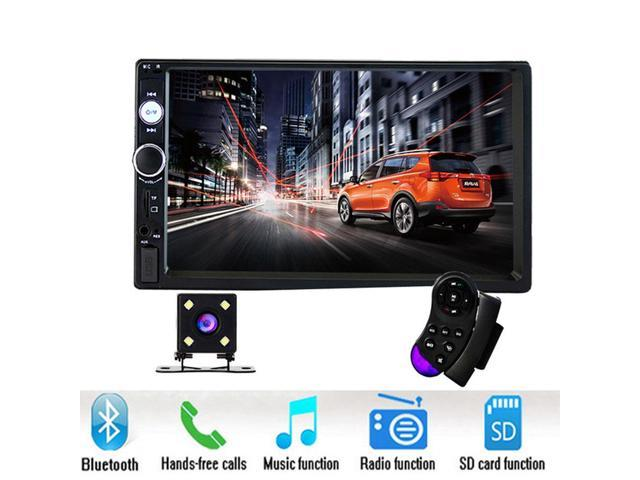 "podofo car radio 2 din 7"" hd player mp5 touch screen digital displaypodofo car radio 2 din 7\"" hd player mp5 touch screen digital display bluetooth usb sd multimedia 2din autoradio rear view camera"