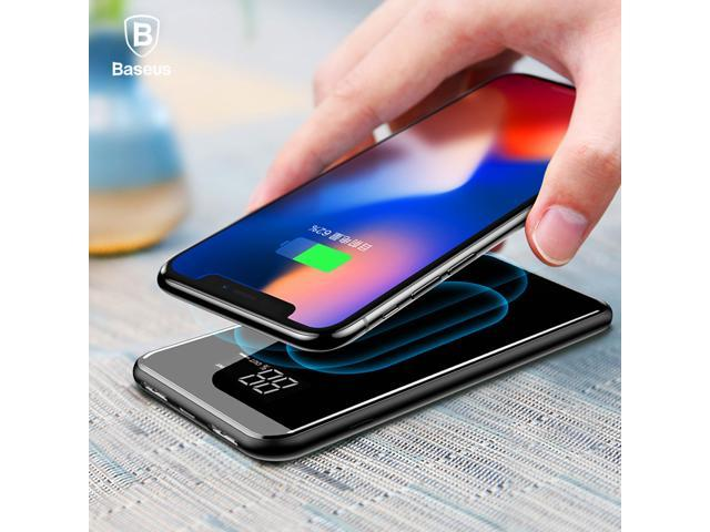 sports shoes c8a19 e7218 8000mAh Qi Wireless Charger 2A Dual USB Power Bank for iPhone X 8 Samsung  S9 LCD Battery Charger 5W Wireless Charging Pad - Newegg.ca