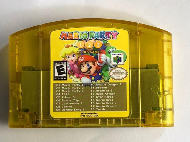 18 in 1 Mario Party 1 2 3 Aggregation +15 NES Video Games Cartridge For N64  Console (US Version) - Newegg com