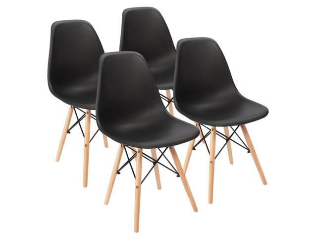 Furmax Pre Assembled Modern Style Dining Chair Pre Assembled Black Effiel Modern Dsw Chair Shell Lounge Plastic Chair For Kitchen Dining Bedroom