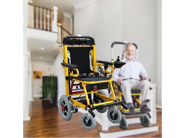 Electric Powered Handtruck Stair Climber - Aluminum alloy Frame stair lift  - Battery Powered Stair Climbing Wheelchair - Newegg com