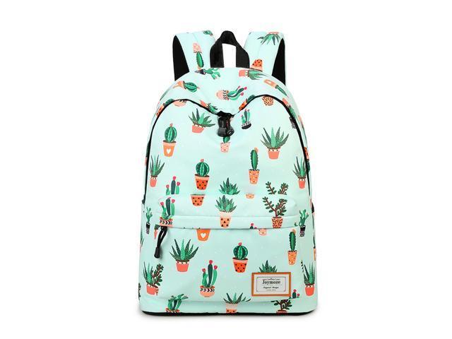 Waterproof Fashion Casual Backpack for Teen Girls College School Backpack  Women Cactus Pattern Print Backpack Purse c680eea27652e