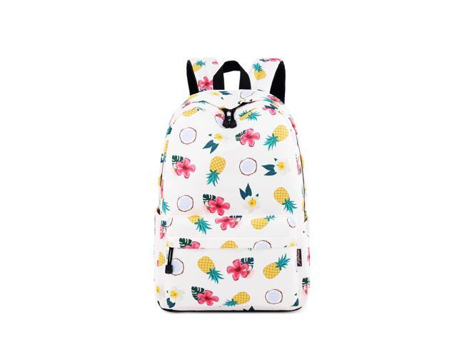 06836244b88c Waterproof School Backpack for Girls Middle School Cute Bookbag Daypack for  Women Pineapple Pattern Backpack Suit for 15.6 Inches Laptop - Newegg.com