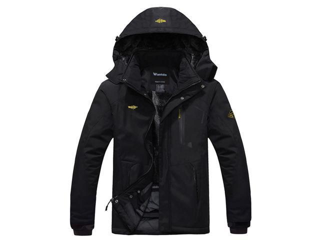d7f8737227b Wantdo Men s Mountain Waterproof Ski Jacket Windproof Rain Jacket ...