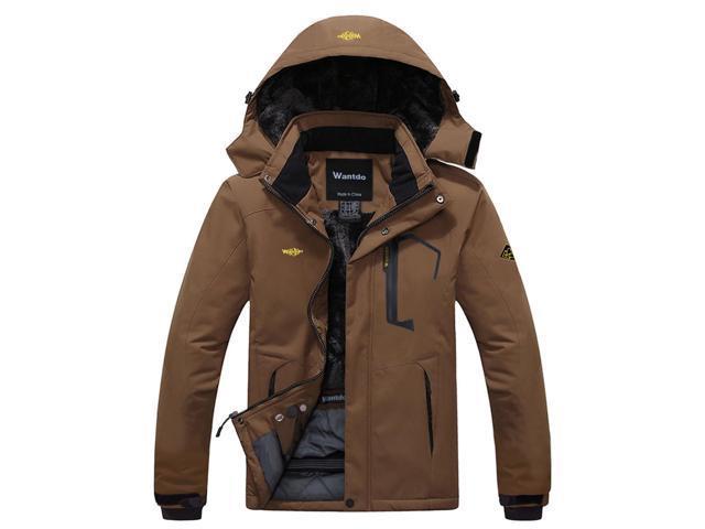 1ced2733b7d12 Wantdo Men's Mountain Waterproof Ski Jacket Windproof Rain Jacket ...