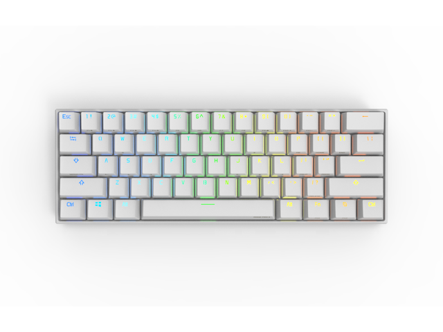 Anne Pro 2 Wired/ Wireless White Gaming Mechanical Keyboard 60% RGB  Bluetooth 4 0 PBT Key Cap N-Key Roll Over Type-c Blue Switch (White) -  Newegg com