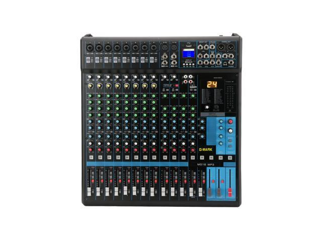 g mark mg16mp3 professional audio mixer sound board console system interface 16 channel digital. Black Bedroom Furniture Sets. Home Design Ideas