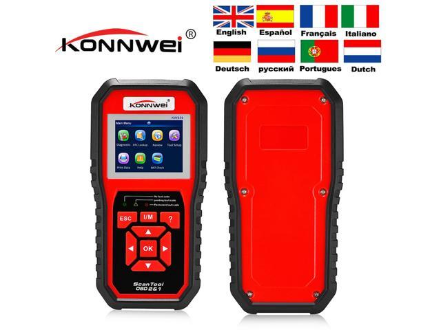 [ Authorized Distributor ] Konnwei KW850 Scan Tool OBD2 Car Diagnostics  Tool EOBD KW 850 Auto Diagnostic Scanner Code Reader - Newegg com