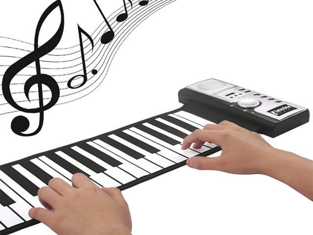 1a61dc4b259 88 Key Flexible Portable MIDI Keyboard Roll Up Piano Foldable Silicon  Electronic Piano Keyboard for Beginner