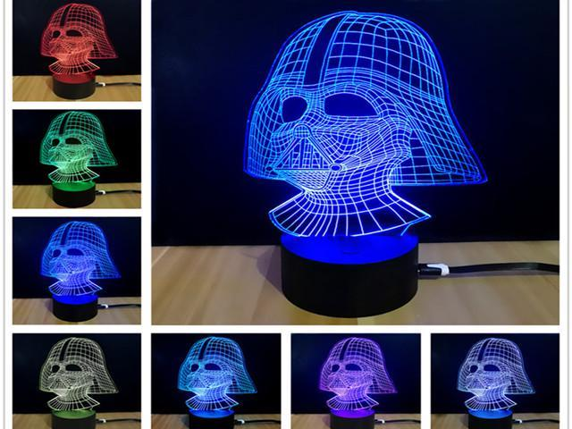 Creative Star Wars Touch Dimming Lamparas 3D Led Darth Vader 7 Color  Changing RGB LED Desk Lamp Night Lamp USB Lava Lamp - Newegg com