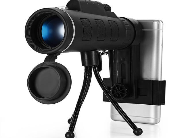 Monocular telescope hd prism scope with compass cell