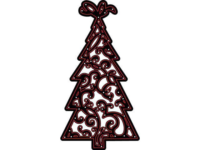 Darice Christmas Craft Dies Ornate Christmas Tree