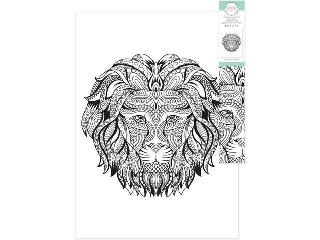 Kaiser Craft Kaisercolour Coloring Poster In Tube Boho Lion - Newegg.com