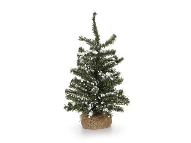 Darice Christmas Floral Snow Glittered Tree With Burlap