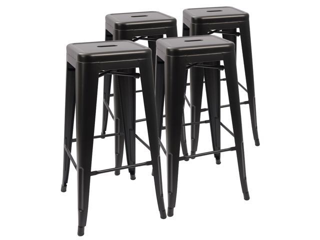 Devoko Metal Bar Stool 30 Indoor Outdoor Barstool Modern Backless Light Weight
