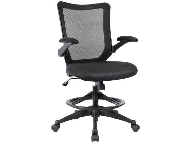 Devoko Office Drafting Chair With Flip Up Arms Reception Desk Chair