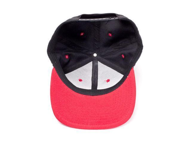 size 40 a19a6 82f8b ATARI Embroidered Logo Badge Snapback Baseball Cap, Black Red (SB097555ATA)