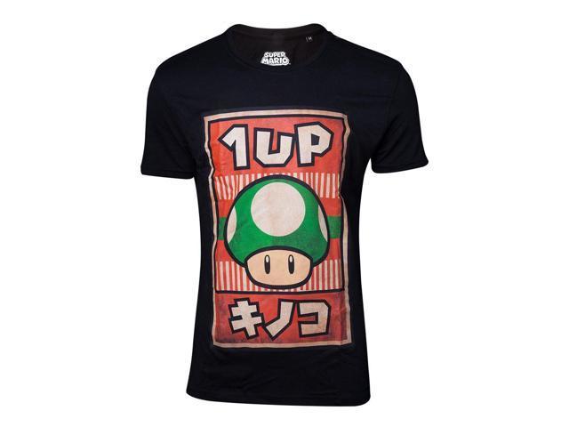 d22abfa0 NINTENDO Super Mario Bros. Male Propaganda 1UP Mushroom Poster T-Shirt,  Small,