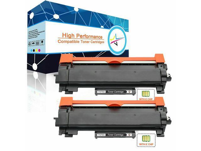 2pk TN730 TN760 HY Toner Cartridge for Brother HL-L2350DW HL-L2370DW MFC-L2710DW