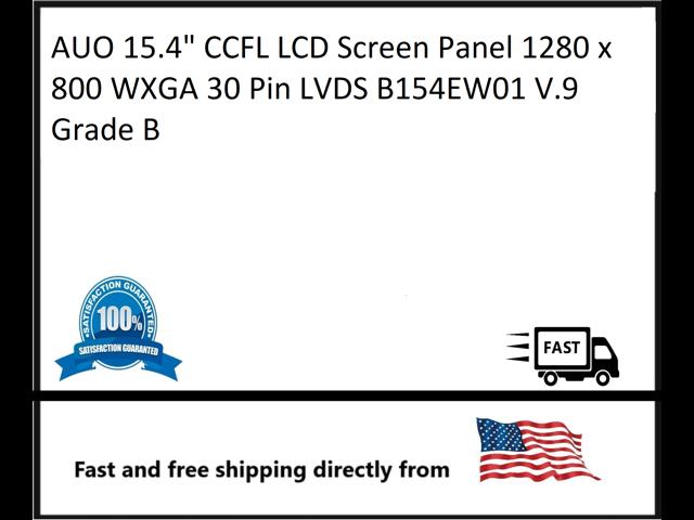 Auo 15 4 Ccfl Lcd Screen Panel 1280 X 800 Wxga 30 Pin Lvds B154ew01 V 9 Grade A Laptop Screens Lcd Panels Computers Tablets Network Hardware Pumpenscout De