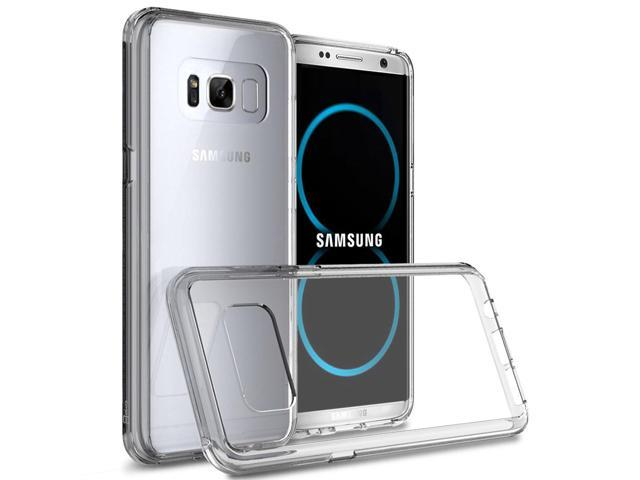 finest selection 6dd02 a5857 Hybrid Slim Fit Hard Back Cover Phone Case for Samsung Galaxy S8 Plus Clear  - Newegg.com