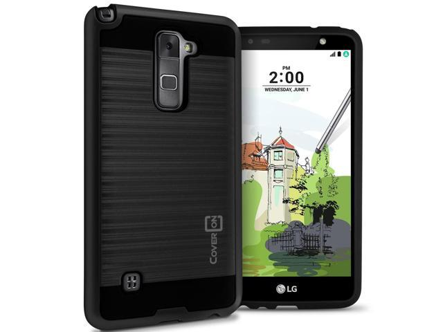 newest collection 96a90 2a0ef for LG Stylo 2 Plus / Stylus 2 Plus Case - Black Slim Rugged Hybrid Phone  Cover - Newegg.com